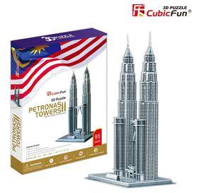 Cubic Fun Petronas Towers Malaysia - 86 Piece 3D Puzzle
