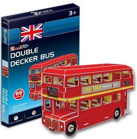 Cubic Fun Double Decker Bus UK - 66 Piece 3D puzzle