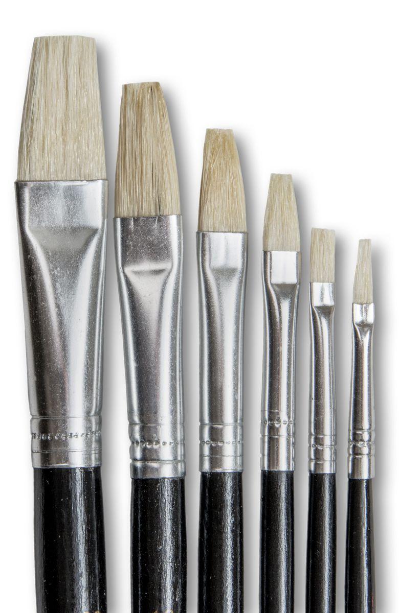 dala 577 flat pure bristle paint brush set of 6 brushes buy