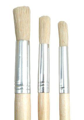 dala 504 round pure bristle paint brush set of 3 brushes buy