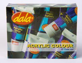 Dala Acrylic Colour Kit - 12 Tube Set