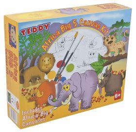 Teddy Africa Big 5 Canvas Kit