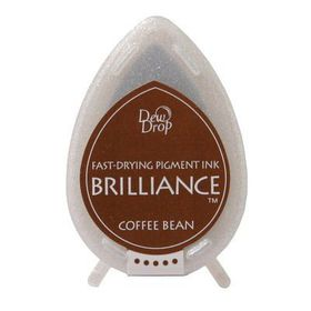 Tsukineko Brilliance Dew Drop Ink Pad - Coffee Bean