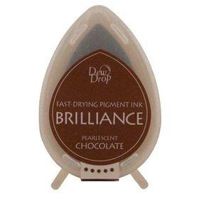 Tsukineko Brilliance Dew Drop Ink Pad - Pearlescent Chocolate