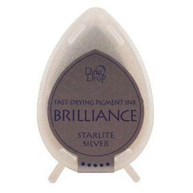 Tsukineko Brilliance Dew Drop Ink Pad - Starlite Silver