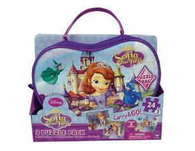 Sofia The First-3 Puzzles In Bag