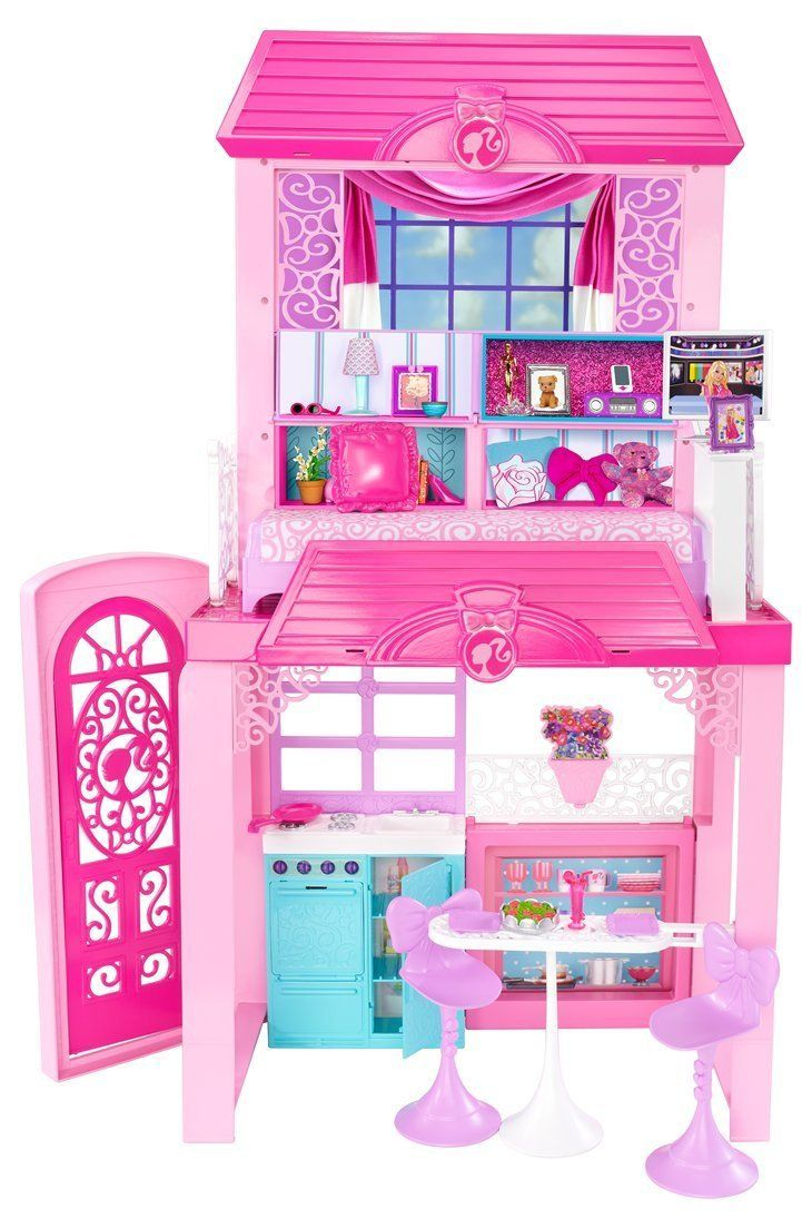 Barbie glam vacation doll house set pink buy online in for Casa di barbie youtube