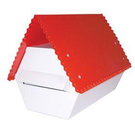 Fragram - Electro GAlva -nised Letter Box - Red