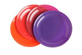 Gizmo - Large Round Plates - Pack Of 4 - Maroon