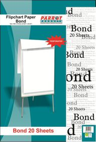 Parrot Flipchart Paper - Bond 20 Sheets