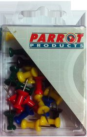 Parrot Thumbtacks - Assorted (Pack of 30)