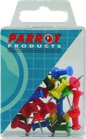 Parrot Thumbtacks - Green - Pack of 25