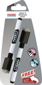 Parrot Marker Whiteboard Magnetic with Eraser - Black