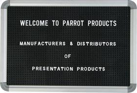 Parrot Letter Board (470 x 320mm) - Black