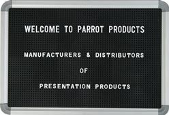 Parrot Letter Board (620 x 470mm) - Black