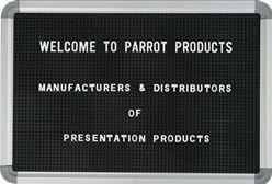 Parrot Letter Board (770 x 620mm) - Black