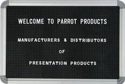 Parrot Letter Board (920 x 620mm) - Black