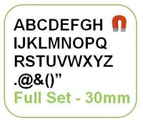 Parrot 30mm Magnetic Alphabet Set - Black