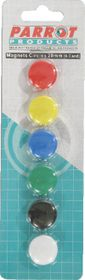 Parrot 20mm Circle Magnets (Pack of 6)