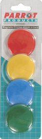 Parrot 40mm Circle Magnets (Pack of 4)