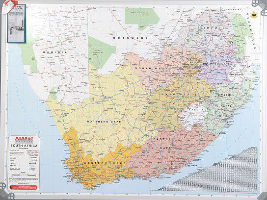 Parrot Products Parrot Magnetic Wall Map South Africa Buy Online