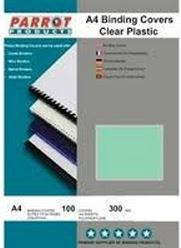 Parrot A4 Clear 300Micron Binding Covers - Green (Pack of 100)