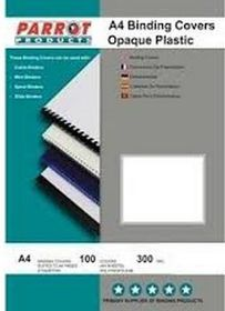 Parrot A4 Opaque 300 Micron Binding Cover - White