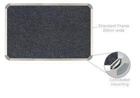 Parrot Bulletin Board Aluminium Frame - Denim (600 x 450mm)