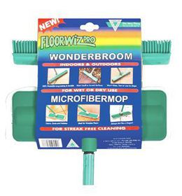 Floorwiz - Microfibre and Wonder Broom Combo - Green