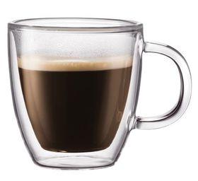 Bodum - Bistro Double Wall Espresso Mug Set - Transparent