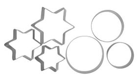 Anzo - Inspire Cookie Cutters Star and Round - 6 Piece