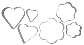 Anzo - Inspire Cookie Cutters Flower and Heart - 6 Piece