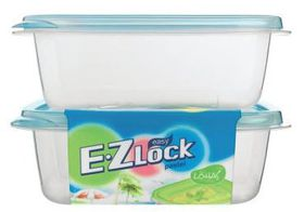Lock and Lock - EZ Lock - 2 Piece Rectangular Container Set - Blue - 520ml