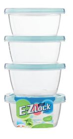 Lock and Lock - EZ Lock - 4 Piece Round Container Set - Blue - 120ml