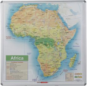 Parrot Educational Board Map Africa 1230mm Magnetic White
