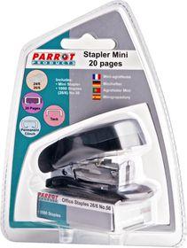 Parrot Stapler Plastic Mini - Black + Staples (1000x 26/6)