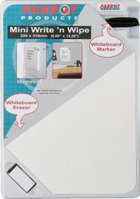 Parrot Write 'n Wipe Mini Plastic Frame - 220 x 310mm
