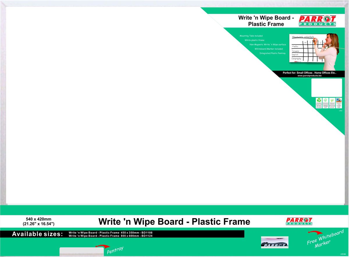 Parrot Products Parrot Write \'n Wipe Plastic Frame - 540 X 420mm ...