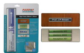 Parrot Sign Frame - Retail Pack