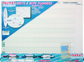 Parrot Year Planner Write & Wipe - 800mm x 600mm