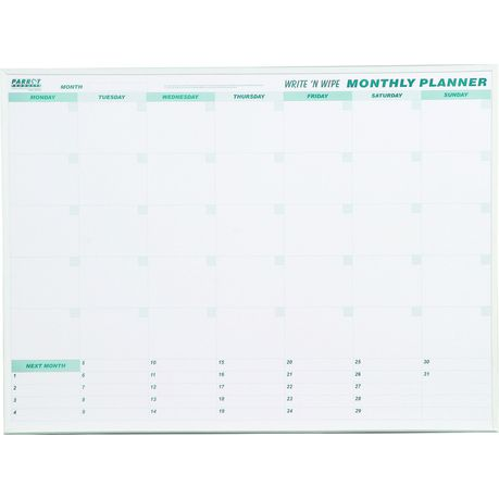 parrot monthly planner write wipe 800mm x 600mm buy online in