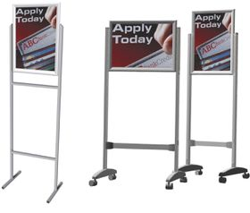 Parrot Stand Poster Frame Steel Double Sided - A2 Landscape