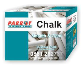 Parrot Chalk Dustless Box - 10 Assorted