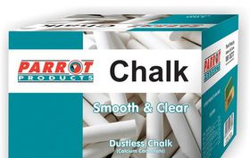 Parrot Chalk Dustless White (100 Pieces)