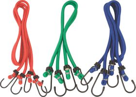 X-Strap - Handy Combination Pack Bungee Cords - Red (6 Piece)