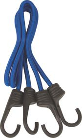 X-Strap - 90Cm X 8Mm Round Bungee Cords - Blue (2 Piece)