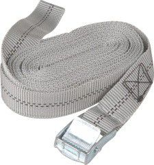 X-Strap - Quick Release Cam Buckle Tie Down Without Hooks - Silver (5M X 25Mm)