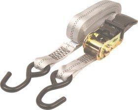 X-Strap - 4.6M X 25Mm Ratchet Tie Down - Black & Silver (2 Piece)