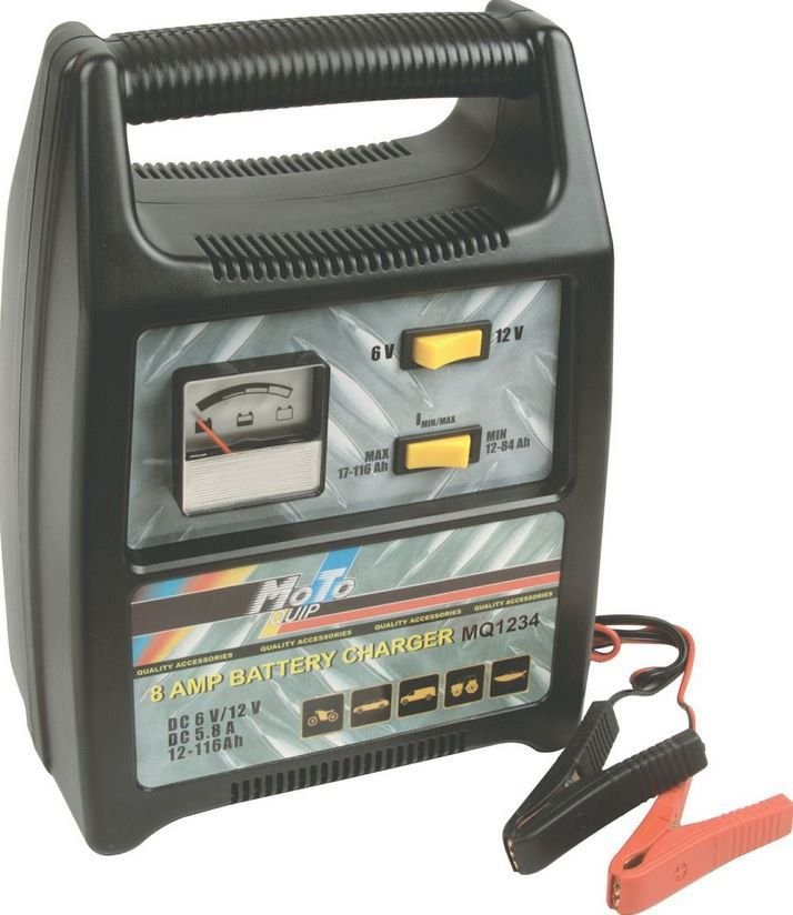moto quip 8 amp battery charger buy online in south africa. Black Bedroom Furniture Sets. Home Design Ideas