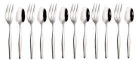 Eetrite - Slimline Tea Spoon and Cake Fork Set - 12 Piece